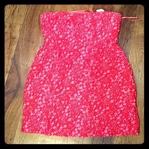 J. Crew sz. 2 Pink&Red Sun Dress